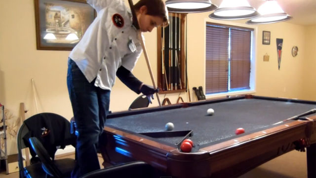 WATCH: 14-Year-Old Billiards Prodigy Has Videogame Trick Shot Skills!