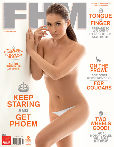FHM February 2014: Keep Staring And Get Phoem!