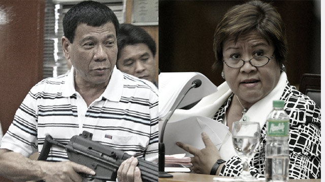De Lima Vs. Duterte: Which Side Are You On?