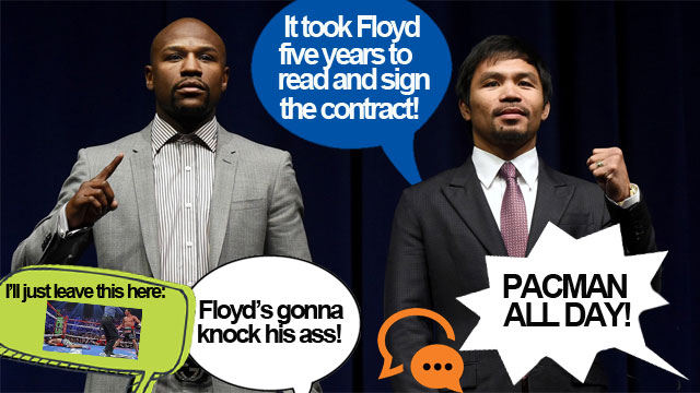 #PressConOfTheCentury: Pacquiao And Mayweather Fans Heat Up The Comment Wars!