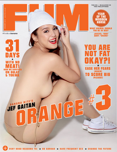 Banana Nite's Sunshine, Aiko, and Jef are FHM's January 2014 Cover Girls!