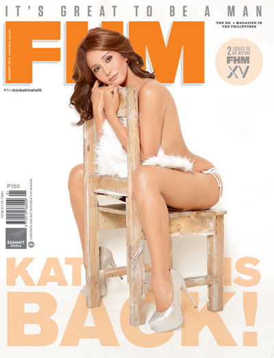 Kat Is Back: A Behind-The-Scenes Look At FHM Icon Katrina Halili's January 2015 Cover Shoot!