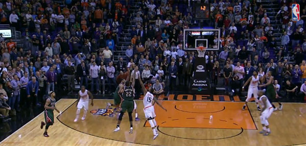 NBA Awesome Play Of The Day: The Bucks' Khris Middleton Spins And Banks The Game-Winning Three Against The Suns!