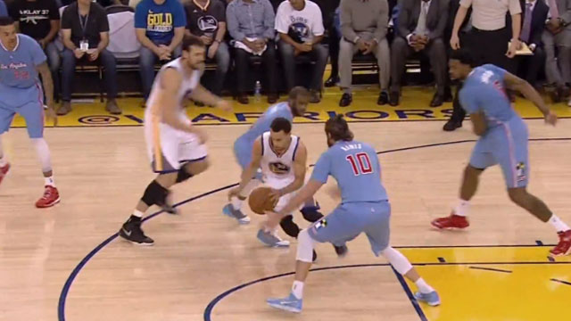 NBA Awesome Play Of The Day: Steph Curry Enters Videogame Mode, Shows Sick Handles And Drains Nasty Step-Back Three!