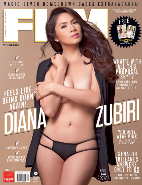 Diana Zubiri Is FHM's September 2014 Cover Girl!
