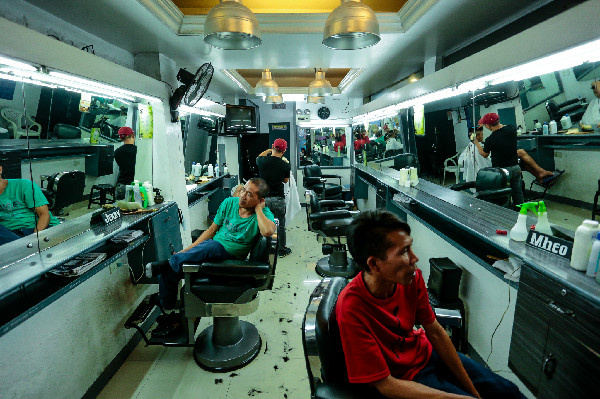 The newly-renovated Puno Barbershop