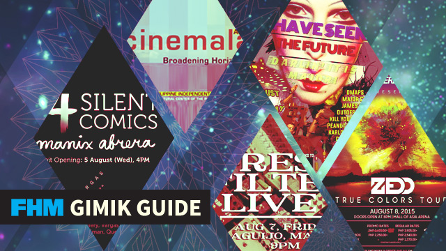 The FHM Gimik Guide: Party With Zedd, Cinemalaya's Back, And A Different Comics Exhibit