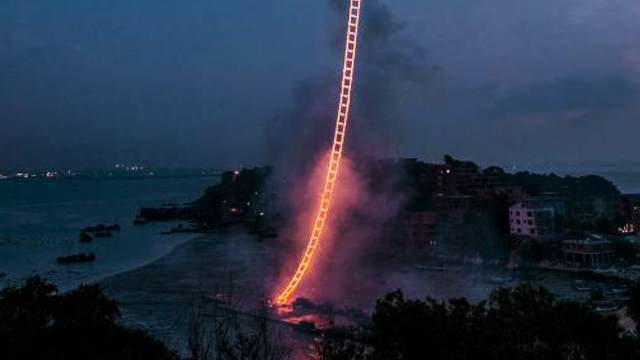 WATCH: You Have To See This Chinese Sky Ladder To Believe It