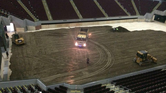 IN PHOTOS: The MOA Arena Has Just Been Filled With Dirt!