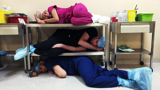 20 Hilarious Photos Of Doctors, Nurses, And Other Hospital People...Sleeping On The Job!