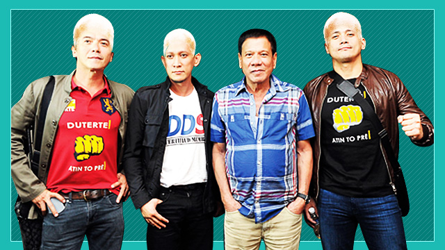 What If Mayor Rody's Celebrity Supporters Also Shaved Their Heads To Make #Duterte2016 Happen?
