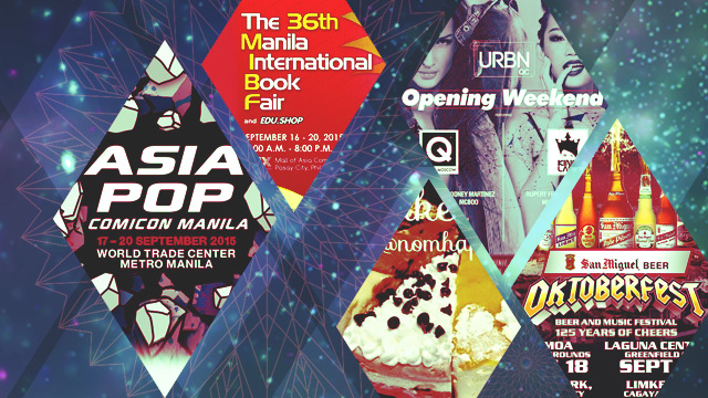 The FHM Weekend Chill Out: Oktoberfest, AsiaPOP Comicon, And A Cake Buffet!