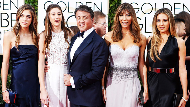 LOOK: Sylvester Stallone's Daughters Prove He Is The Golden Globes' Biggest Winner