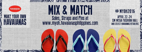 bd410f2647d95 4) Make your own Havaianas. Continue reading below ↓. WHEN  April 22 to 24
