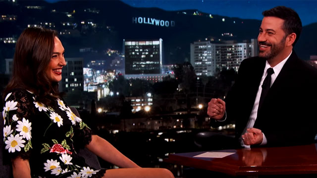 Gal Gadot's 'Breasts' Question Leaves Jimmy Kimmel Speechless