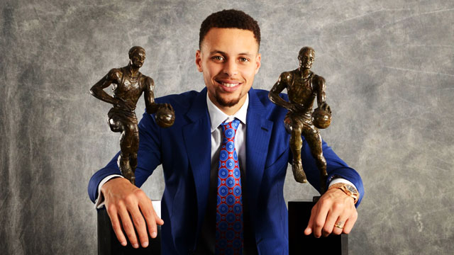 Cheers, Back-to-Back MVP Stephen Curry!
