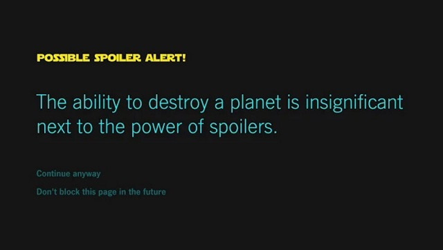 Install This Chrome Extension If You Don't Want To See Star Wars Spoilers