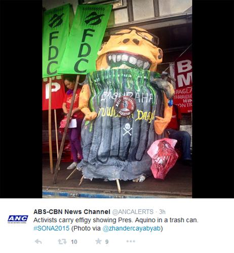 pnoy effigy