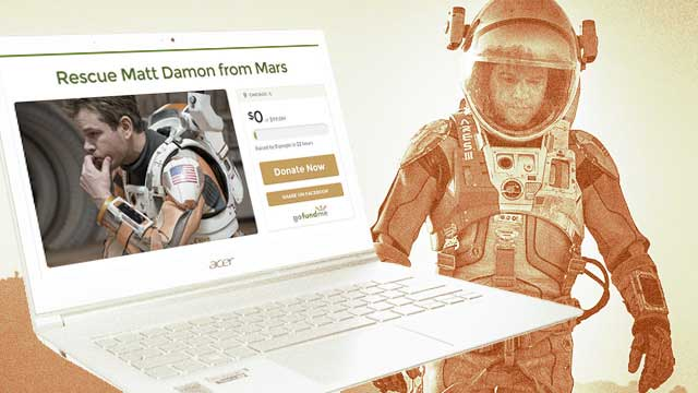 WTF: Someone Started An Online Fundraiser To Rescue Matt Damon From Mars