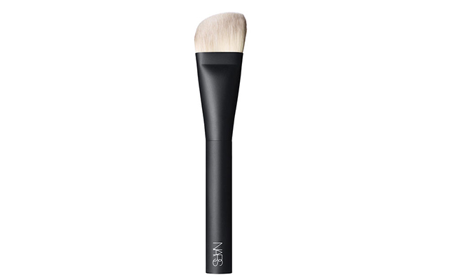 ... particular brush has an angled shape and synthetic but super soft bristles, so most of the creams or liquids that I use with this [become] easy to blend ...