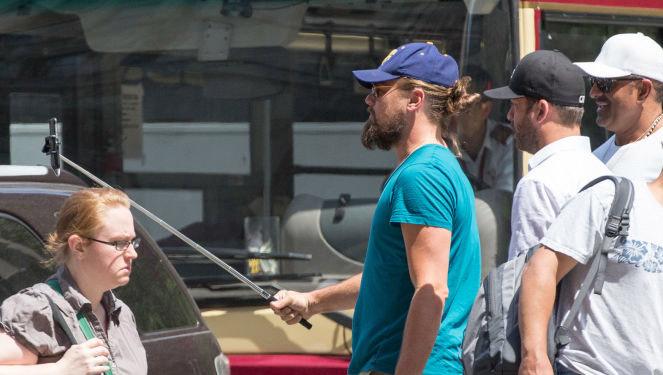Spotted: Leonardo DiCaprio with a Selfie Stick