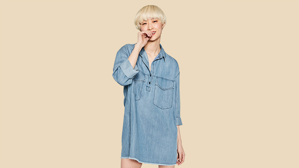 The Coolest Denim Trend To Try Now