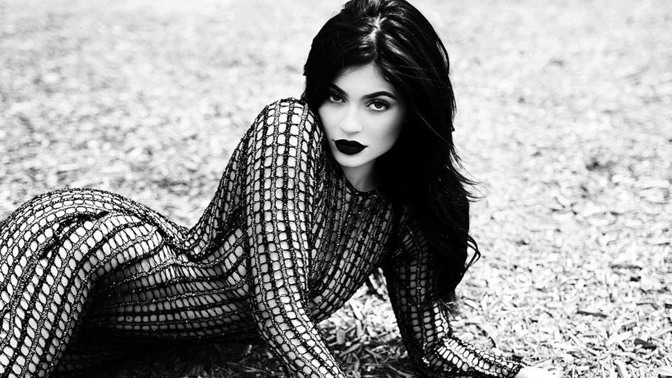 Kylie's New Matte Black Lip Kit Drops Today