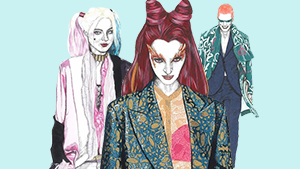 Illustrator David Murray Dresses Villains In Haute Couture