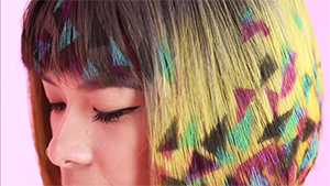 This Is How You Can Turn Your Hair Into Graffiti Art