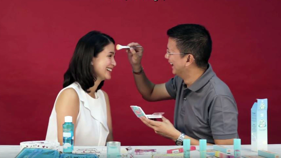 Heart Evangelista Gets Her Makeup Done By Chiz Escudero