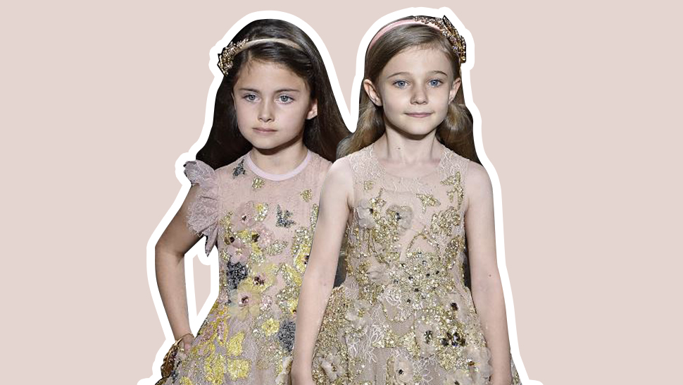 Elie Saab Debuts Kiddie Couture For Fall 2016