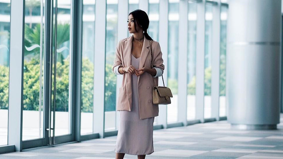 Kryz Uy Makes a Slip Dress Appropriate for the Office