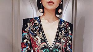 Lotd: Liz Uy's Dazzling Balmain Mini Dress