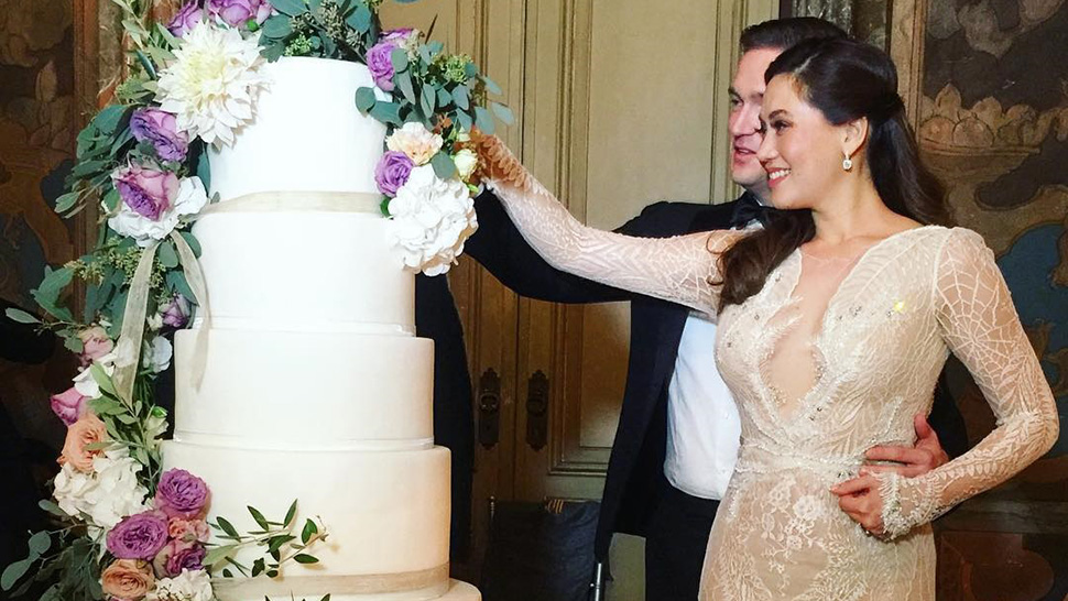 Cristalle Belo and Justin Pitt Tie the Knot in Lake Como