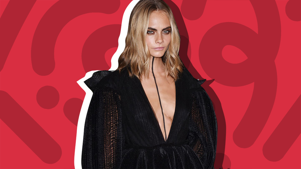 Cara Delevingne Wears Body Paint at Burberry
