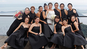 Cam Ongpauco's Entourage Makes It Cool To Wear Black To A Wedding