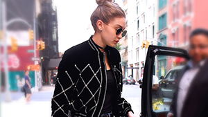 Lotd: Gigi Hadid Reinvents The Logo Belt