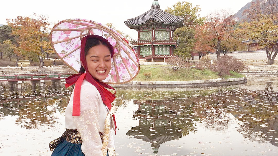 Lauren Reid Channels Her Inner K-drama Princess In Korea