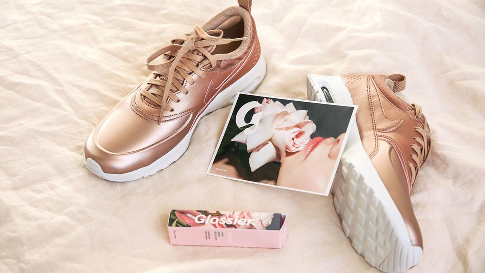 This Rose Gold Sneaker Is a Fashion Girl's Dream Come True