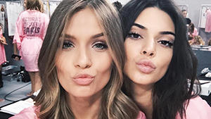 The Most Glamorous Selfies At The Victoria's Secret Fashion Show