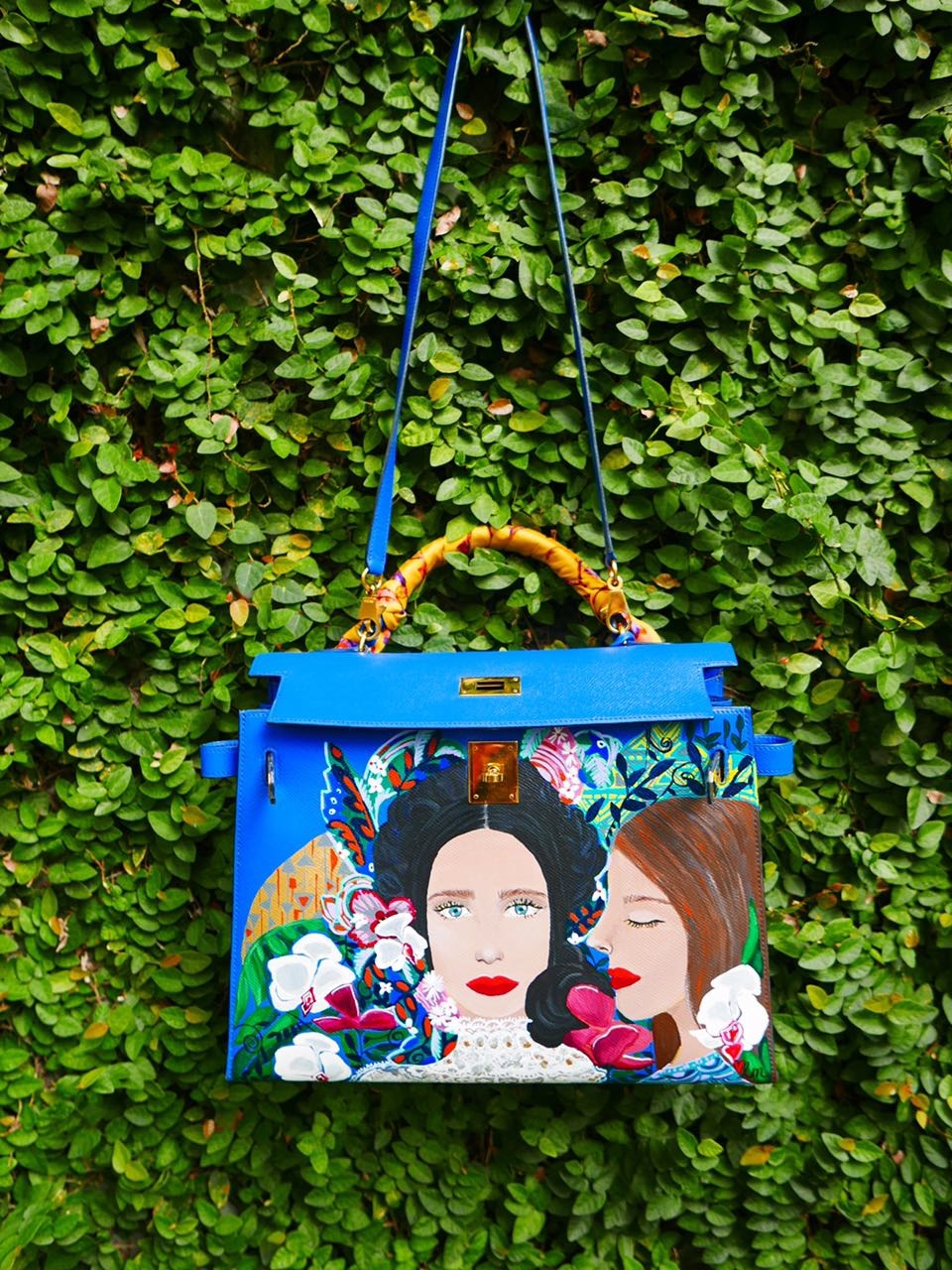 Heart Hand Painted Bag