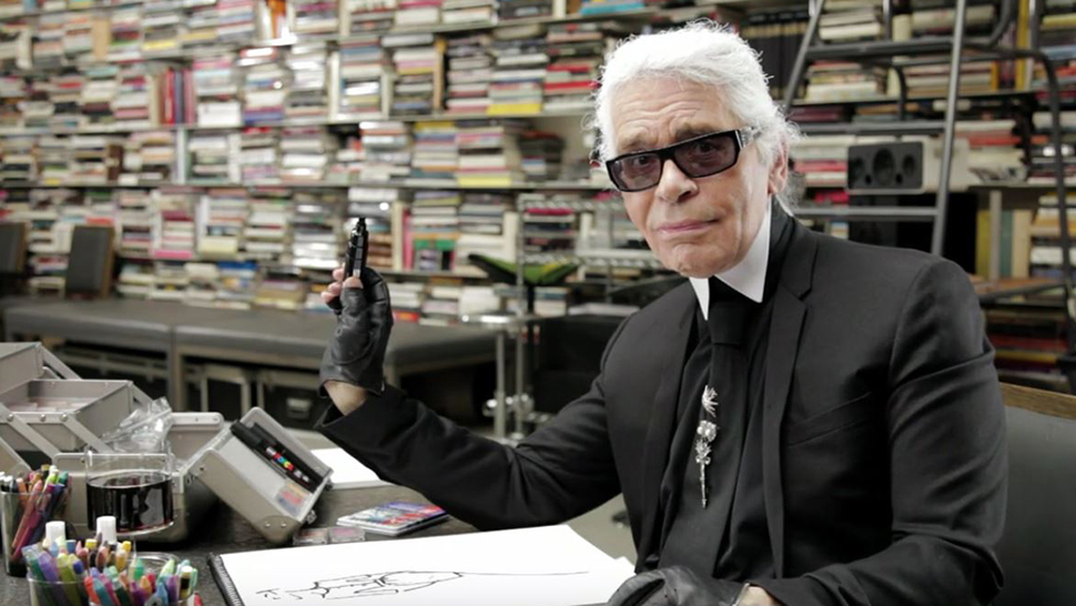 Watch Karl Lagerfeld Sketch His Life