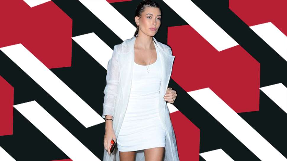 LOTD: Hailey Baldwin's Boxer Braids + Slip Dress Combo