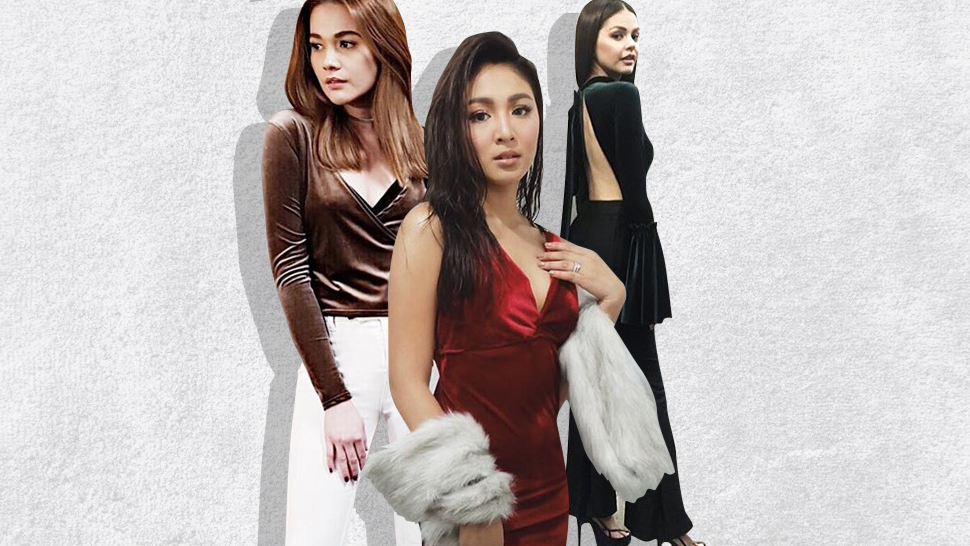 How The Local Celebs Are Wearing Velvet