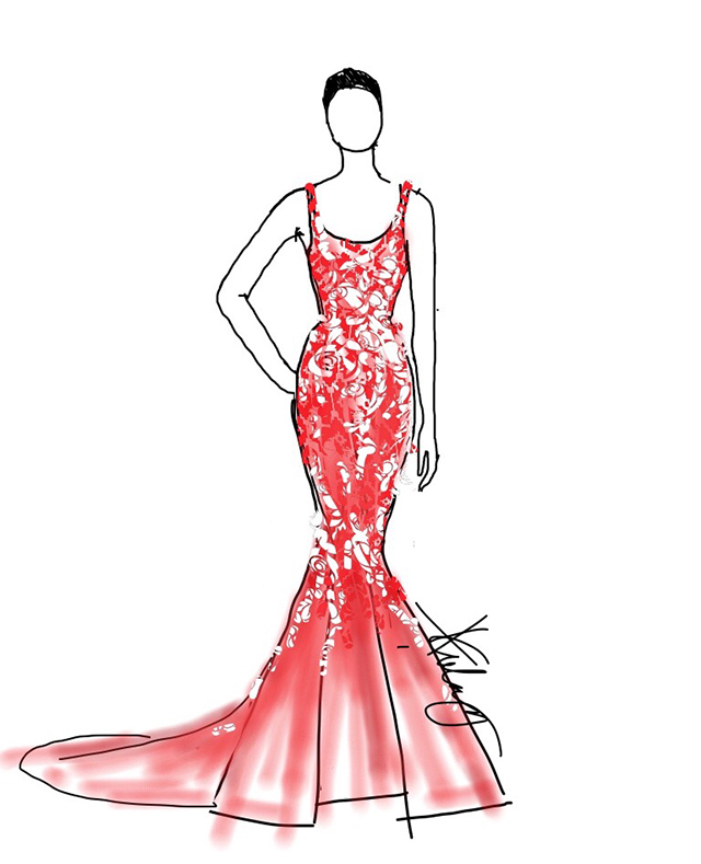 6 Designers Sketch Evening Gowns For Maxine Medina | Preview
