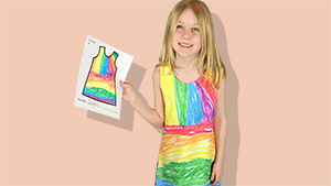 We Found A Clothing Service That Prints Kids' Drawings Onto Dresses