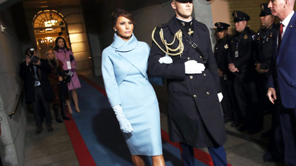 Lotd: Melania Trump Wears Ralph Lauren To The Us Inauguration Day