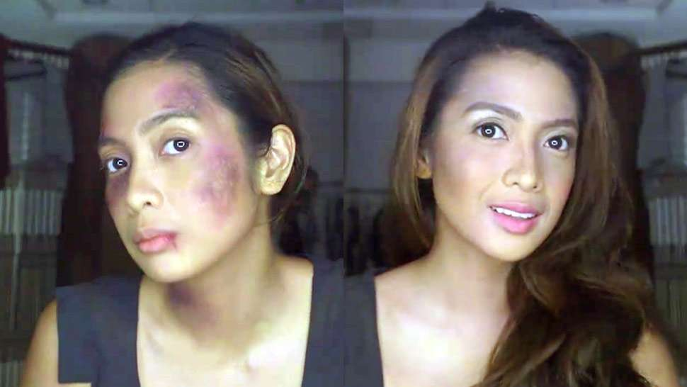 This Makeup Tutorial Has A Powerful Message About Domestic Abuse