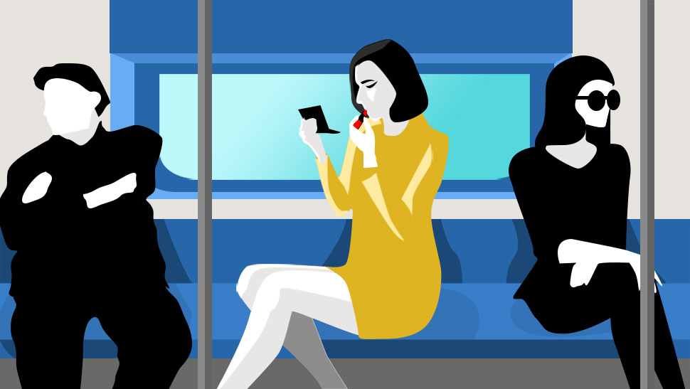 How to Do Your Makeup Inside the MRT