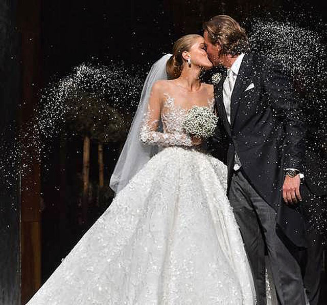 The Swarovski Heiress Tied The Knot In This Sparkly Michael Cinco ...